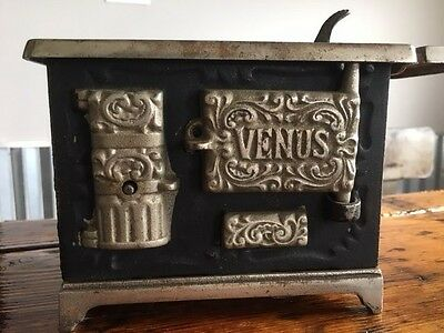 Antique Venus Cast Iron Salesman Sample/ Child Toy Stove