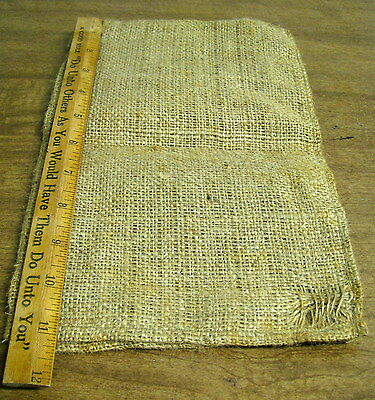 "Vintage Small Burlap Sack 7"" wide x 11"" long"