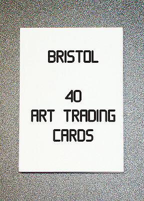 40 Blank White Aceo Artist Trading Cards Bristol Board 180Gsm