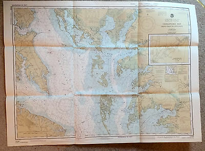 Vintage Navigational Chart #12230 Chesapeake Smith Point to Cove Point 1981 NOAA