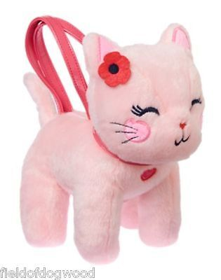 NWT Gymboree Pretty Poppy Pink Kitty Cat Plush Purse Toy Girls