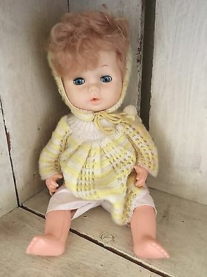 "Vintage 1960s Eegee 14 FL Blonde Girl Doll 14"" Tall"