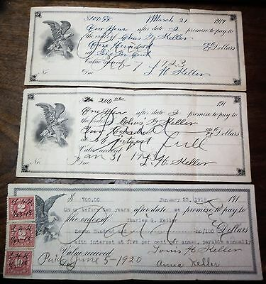 LOT 3 vintage bank checks