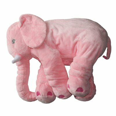 Pink Elephant Stuffed Soft Plush Pillow Doll Toy Baby Pillow Newborn Babies Kids
