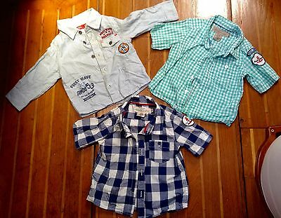 3 x Shirts Toddler Boys Mixed Bundle Size 0, 6-9 Months in Excellent Condition