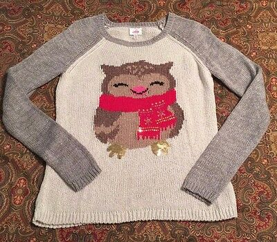 Girls Justice Owl Pullover Sweater Size 14
