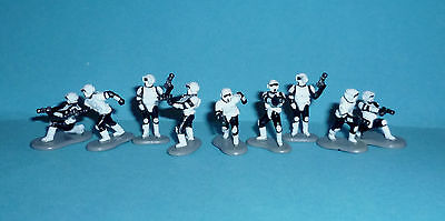 STAR WARS Micro Machines - IMPERIAL SCOUT TROOPERS lot 9 figures complete Galoob