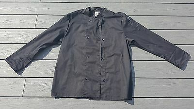 CHEF REVIVAL 24/7 Size Extra Large Black Chef Crew Jacket Men's Long Sleeve
