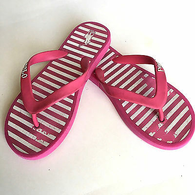 Pre Owned: Girls Polo Youth Summer Flip Flop Sandal, Casual Shoe, Size 2Y