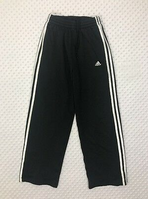 Adidas Youth Large Black White Stripe Athletic Sweat Pants