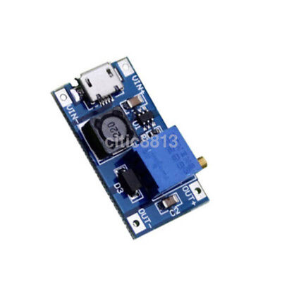 DC-DC 2/24V to 5/9/12/28V 2A Boost Step Up Adjustable Regulator Power Module AU