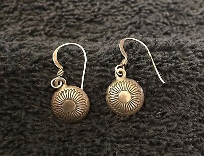 Sterling Silver ~1 gram Matching Set Earrings Round Flower Wires