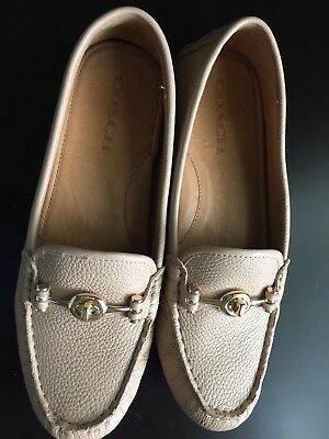 NEW Beechwood COACH Leather ARLENE Women's Loafers Flats Driving Moc Shoes 8