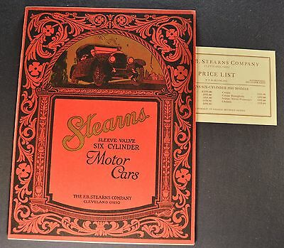 1924 Stearns-Knight Catalog Sales Brochure + Prices Excellent Original 24