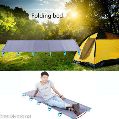 Folding Single Bed Camping Sleeping Chair Moisture-proof Pad 100KG Capacity