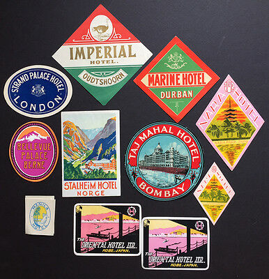 Hotel Luggage Label | Various Destinations | 11 Labels