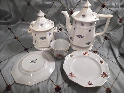 Five Piece Ironstone Tea Service, by Edward Walley