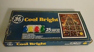 Vtg. GE Cool Bright Christmas Light Strand - 25 Light Strand NOS