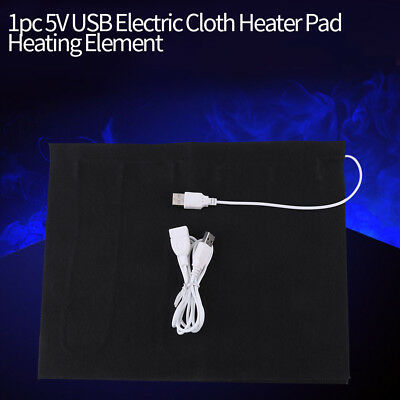 5V USB Electric Cloth Heater Pad Heating Element for Pet Belt Warmer 50℃ AM