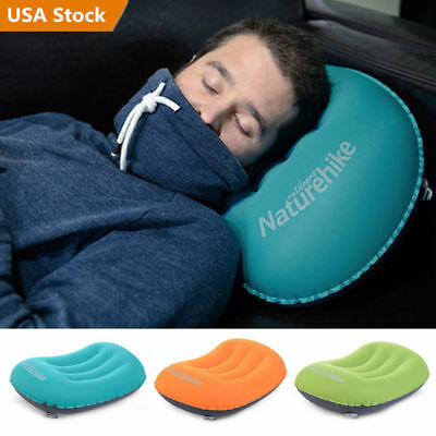 3 Colors Ultralight Inflatable Air Pillow Cushion Travel Hiking Camping Rest MF