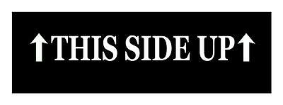 This Side Up - 3X22 Vinyl Car Truck Window Decal Sticker