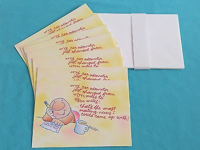 ZIGGY Tom Wilson EXCITING NEWS Notecards Hallmark Cartoon Character Set of 7 VTG