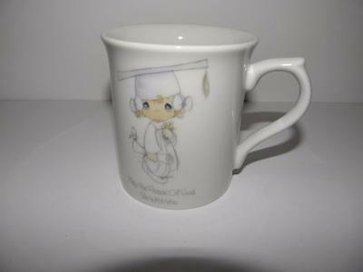 NEW! Vintage 1985 PRECIOUS MOMENTS Girl GRADUATION Coffee Cup Collectible