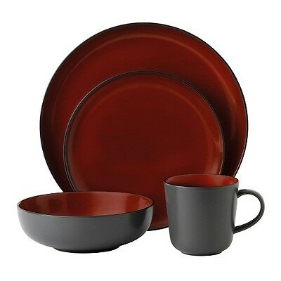 NEW Gordon Ramsay by Royal Doulton Bread Street Dark Red 32 Piece Set -low price