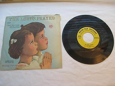 DA4650 Vintage Peter Pan Records 45/431 THE LORD's PRAYER Dated 1956