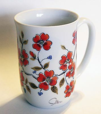VINTAGE 1976 WINTER DOGWOOD TREE BLOSSOM TEA CUP Himark Saltera Japan coffee