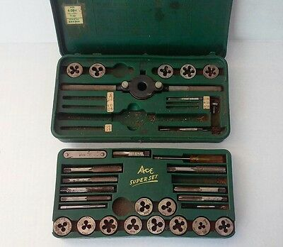 Ace Henry Hanson Vintage Tap and Die Super Set No. 614 USA - INCOMPLETE