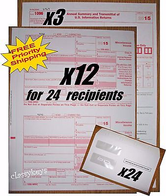 2017 Irs Tax Forms Kit 1099 Misc Laser For 10 Recipients 10 Env
