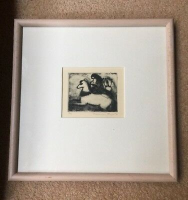 Limited Edition. Etching . The Watchers Drypoint . Framed