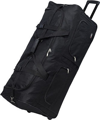"""30"""" Large Polyester Rolling Duffel Wheeled Luggage Suitcase Travel Duffel Bag"""