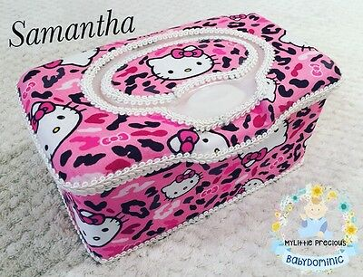 Hello Kitty Wipes Large Box Tub Dispenser. Pink Wipes Case Container Box