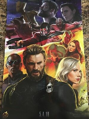 2017 SDCC Exclusive MARVEL INFINITY WAR CAPTAIN AMERICA AVENGERS Poster in Tube