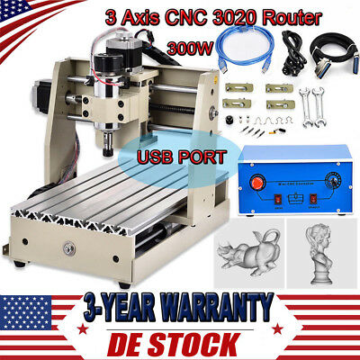 3 Axis USB CNC Router Engraver Kit 300W Wood Carving Engraving Milling Machine