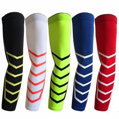Sports Arm Sleeve Basketball Elbow Support Compression Elastic Arm Protector New