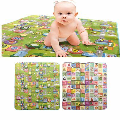 200x180cm 2 Side Kids Baby Crawling Play Pad Educational Game Play Soft Foam Mat