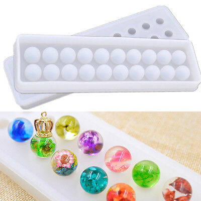 White Silicone Beads Pendant Mold for DIY Necklace Bracelet Jewelry Making Craft