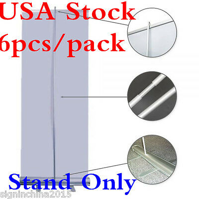"""US Stock-6PCS* 33""""W x 79""""H Economy Standard Retractable / Roll Up Banner Stand"""