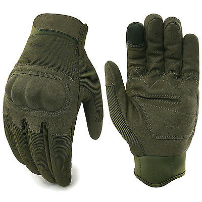 JIUSY Touch Screen Military Tactical Airsoft Hard Knuckle Full Finger Gloves