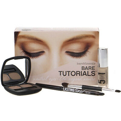 BareMinerals Bare Tutorials Neutral Eyes Kit Eyeshadow Eyeliner Damaged Box