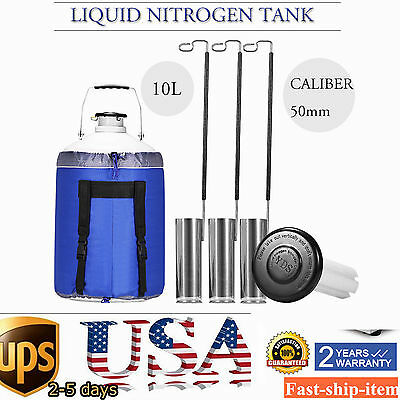 10L Liquid Nitrogen Cryogenic Container Tank Dewar Canisters Pails Refrigeration