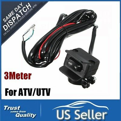 For ATV/UTV 3Meters Winch Rocker Switch Handlebar Control Line Warn Accessories