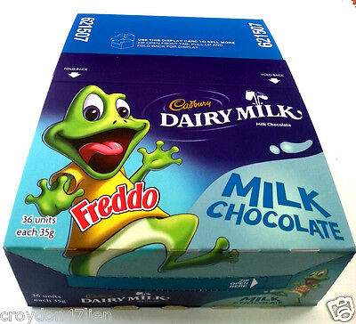 Cadbury Freddo Dairy Milk Chocolate Bars - Bulk Lollies 36 x 35g