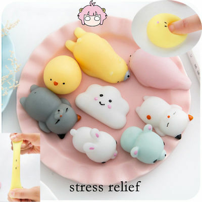 Novelty Cute Animal Shaped Soft Toys Antistress Squeeze Silicone Venting Gift