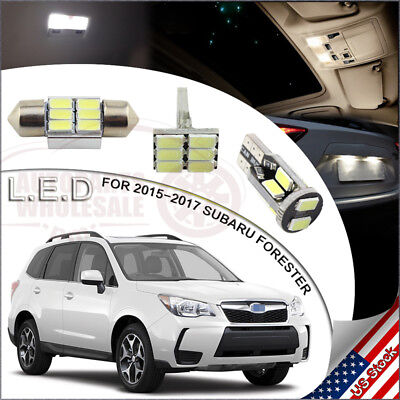 8pcs Led Interior Lights Package White For 2017 Subaru Forester