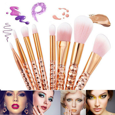 8Pcs/Set Make Up Tool Brushes Face Powder Blusher Foundation Kabuki Contour Set
