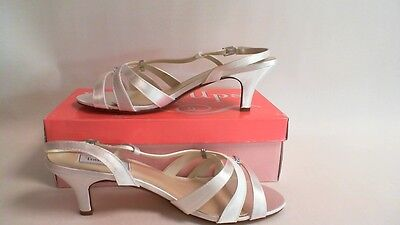 Touch Ups Wedding Shoes   White Satin   Donetta   US 11 W UK 9 #